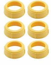 6 Collars MEDELA Bottle Nipple Collars Rings New! for slow or medium flo... - $19.80