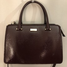 NEW KATE SPADE Lise Bixby Place Patent Leather Satchel Bag, Mahogany Red... - $145.12