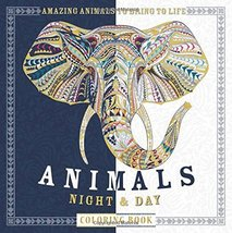 Animals Night & Day Coloring Book: Amazing Animals to Bring to Life Moff... - $11.40