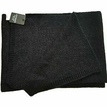 Steve Madden Men's Textured Scarf, Black, One Size - $19.31