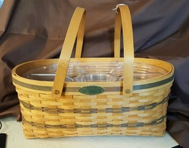 Longaberger 1999 Traditions Collection GENEROSITY BASKET With 2 Protectors - $49.95