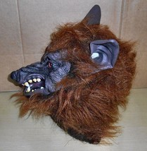 Scary Wolf- Latex &  Hair Full Head Mask - $19.79