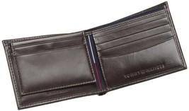 NEW TOMMY HILFIGER MEN'S LEATHER CREDIT CARD WALLET PASSCASE BILLFOLD 5675-02 image 2