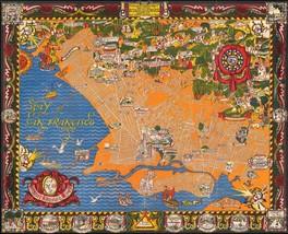 Berkeley Oakland Alameda East Bay 1930 pictorial map POSTER 50325 - $15.84