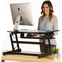 Dual Monitors Durable Office Desk Retractable Keyboard Tray 32 Inch Tabl... - $259.67