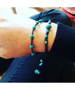 2 Handcrafted Turquoise Bead Thai Wristbands Bracelets Handmade In Thailand - $14.06