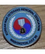 Korean War Veterans Memorial Dedication Lapel Pin 1995 - $12.87