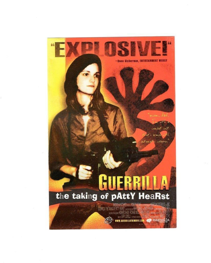 "Primary image for POSTCARD- ""GUERILLA- THE TAKING OF PATTY HEARST"" MOVIE PROMOTION AD"