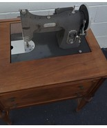 Vintage White Rotary Electric Sewing Machine - Built In Table - Folds Do... - $197.99