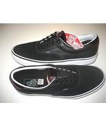 Vans Era 59 Mens Velvet Black Purple White Leather Skate Boat shoes size... - $64.34