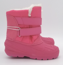 Cat & Jack Toddler Girls Fuchsia Pink Lev Faux Fur Insulted Winter Snow Boots image 3
