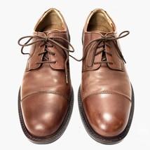 Johnston & Murphy Men's Tan Cap Toe Classic Oxfords Size 10M Cognac Brown  - $78.21