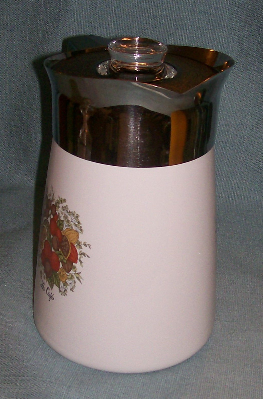 Vintage Corning SPICE OF LIFE Stove Top 6 Cup Coffee Pot / Percolator -P146 VGUC image 3