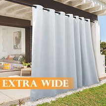 RYB HOME 108 inches Long Outdoor Curtains Plus Long Porch Curtains Outdo... - $73.54