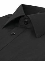 Omega Italy Men's Long Sleeve Solid Regular Fit Black Dress Shirt - 2XL image 2
