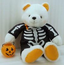 HALLMARK HALLOWEEN Plush BEAR ~ Glow in the Dark SKELETON w/ Jack o Lant... - $18.99