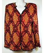 Vintage Parisian Room Ladies Women Jacket Top Beads Sequins Size L Made ... - $85.49