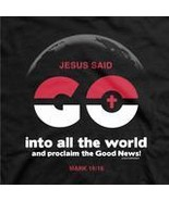 "Christian Mens T-Shirt ""INTO ALL THE WORLD""  by Kerusso - NEW - $17.99+"