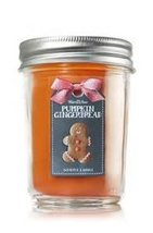 Bath and Body Works Pumpkin Gingerbread Mason Jar Candle 6 Ounce - $39.55