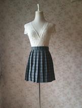 NAVY Blue PLAID Skirt Pleated Plaid Skirt School Mini Plaid Skirt US0-US16 image 8