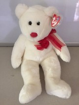 TY Valentino Teddy Bear Beanie Buddy 1999 Stuffed plush - $6.23