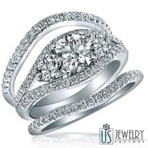 1.94 CT (0.71) E-SI1 NATURAL ROUND DIAMOND ENGAGEMENT RING BRIDAL SET 14... - £3,031.44 GBP