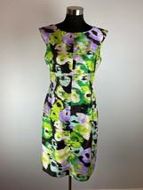 Isabella DeMarco Tahari Levine Sheath Dress 6 S Multicolor Floral Knee L... - $39.59
