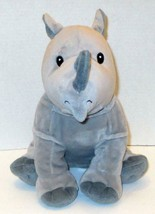 "KOHLS CARES KIDS 2018 I KNOW A RHINO 12"" GREY PLUSH STUFFED ANIMAL DOLL TOY - $6.99"
