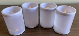 4pc Flameless Candles Battery Operated Flickering LED light Plastic 4'' - $8.99