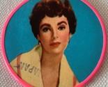 Very Rare Vintage Collectible Elizabeth Taylor Pocket Mirror 1950s