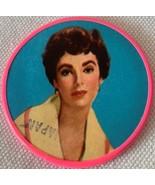 Very Rare Vintage Collectible Elizabeth Taylor Pocket Mirror 1950s - $15.99