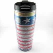 STARBUCKS COFFEE COMPANY 2004 16 oz BARISTA Travel Tumbler STAR SPANGLED... - $28.63