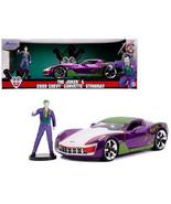 "2009 Chevrolet Corvette Stingray with Joker Diecast Figurine \""DC Comics\"" Serie - $46.53"