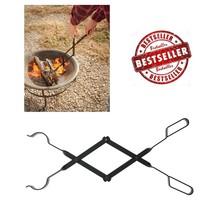 """Log Grabber 26"""" Campfire Tongs Sturdy Metal Scissor-Action Fireplace Fir... - $14.25"""