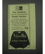1954 Viyella School Knicker Ad - The healthiest (and all-the-year-round) - $14.99
