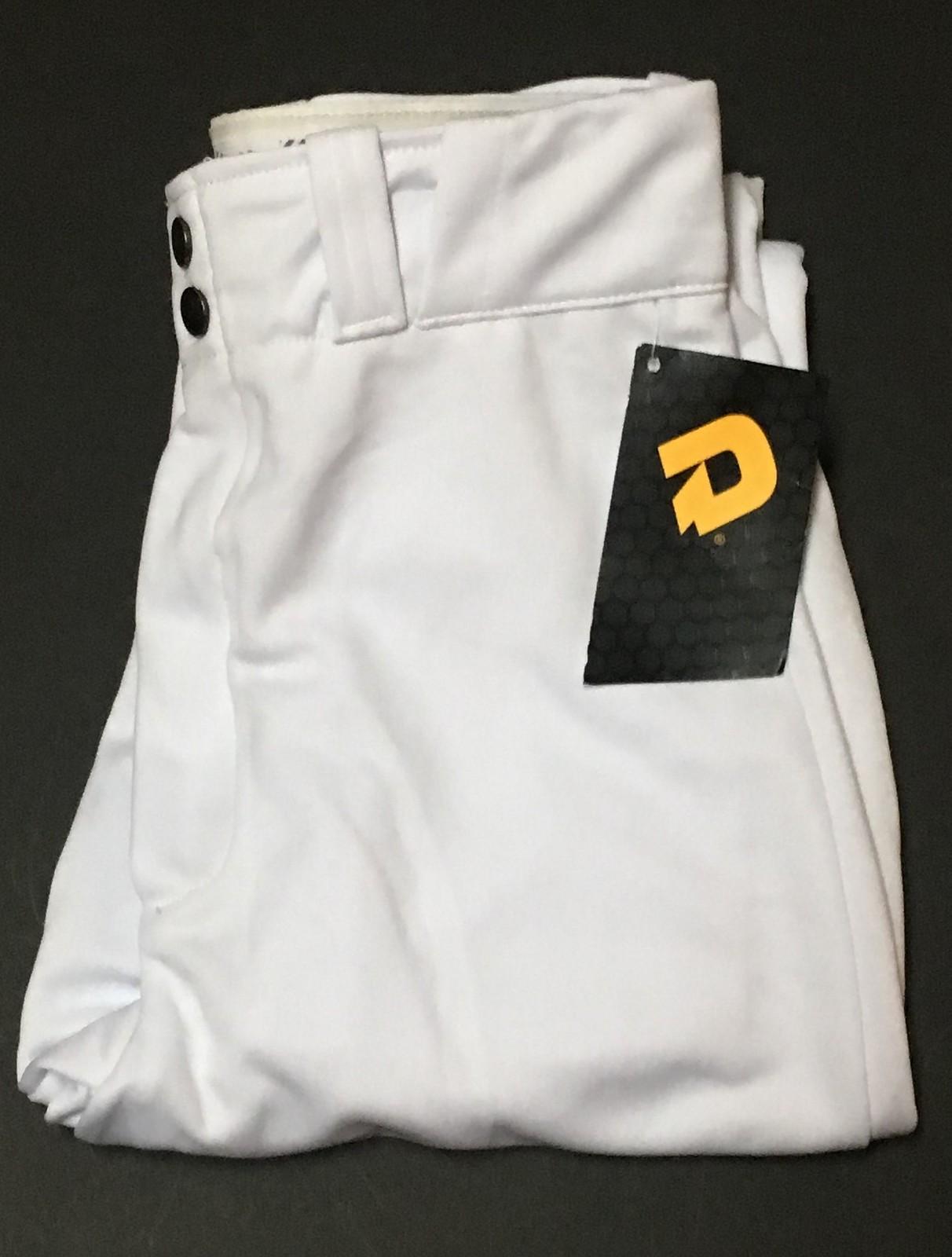 Demarini Adjustable Hem White Baseball Pants NWT Men's Sz L