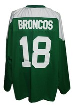 Any Name Number Humboldt Broncos Junior Hockey Jersey Green Any Size image 2