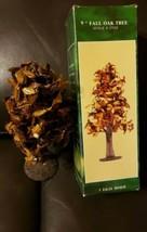 "New 1994 Fall & Halloween Villages 9"" Fall Oak Tree Forma Vitreville 17557 - $15.83"
