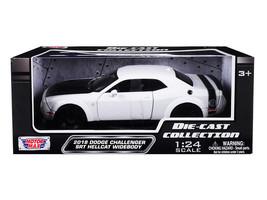 2018 Dodge Challenger SRT Hellcat Widebody White w/Black Hood 1/24 Dieca... - $34.95