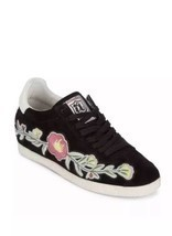 New $198 ASH Gull Black Floral Embroidery Sneakers Shoes Size 37 / 7 M - $86.91