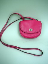 Coach #F49872 Park Leather Magenta Pink Mini Crossbody Bag - $57.80