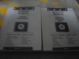 1987 Dodge Daytona Service Shop Repair Manual Set OEM Engine Chassis Body Electr - $79.19