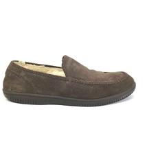 UGG Australia Men's 11 Brown Textured Nubuck Leather Loafers Comfort Shoes - $1.120,11 MXN