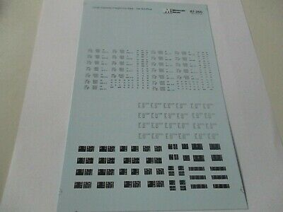 Microscale Decals Stock # 87-260 Data Freight Cars Large Capacity HO Scale