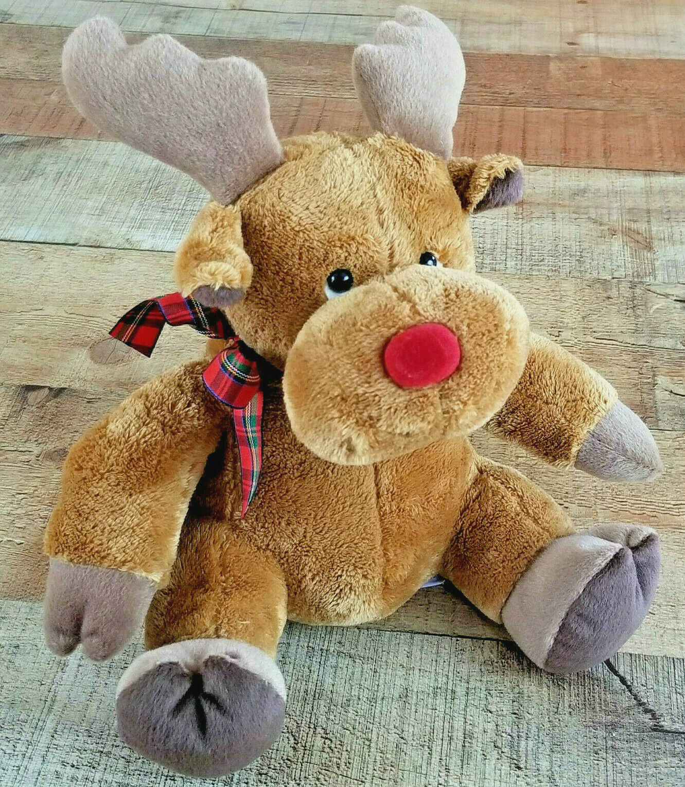Primary image for Russ Berrie Reindeer Christmas Plush Holiday Stuffed Deer Vintage Small 10""