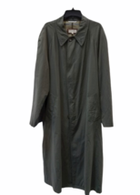 """Vintage Giorgio Armani Long Olive Green Trench Rain Coat 54"""" Chest Made in Italy image 1"""