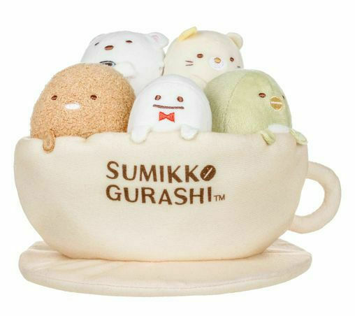Primary image for Sumikko Gurashi Cafe Coffee Tea Cup Stuffed Plush Collectible with 5 mini Toys