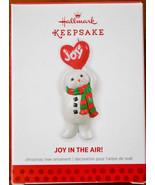 Hallmark - Joy In The Air - Snowman with Heart - Joy - Keepsake Ornament - $8.54