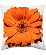 Pillow Decor - Bold Daisy Flower Orange Throw Pillow 20X20 - $44.95
