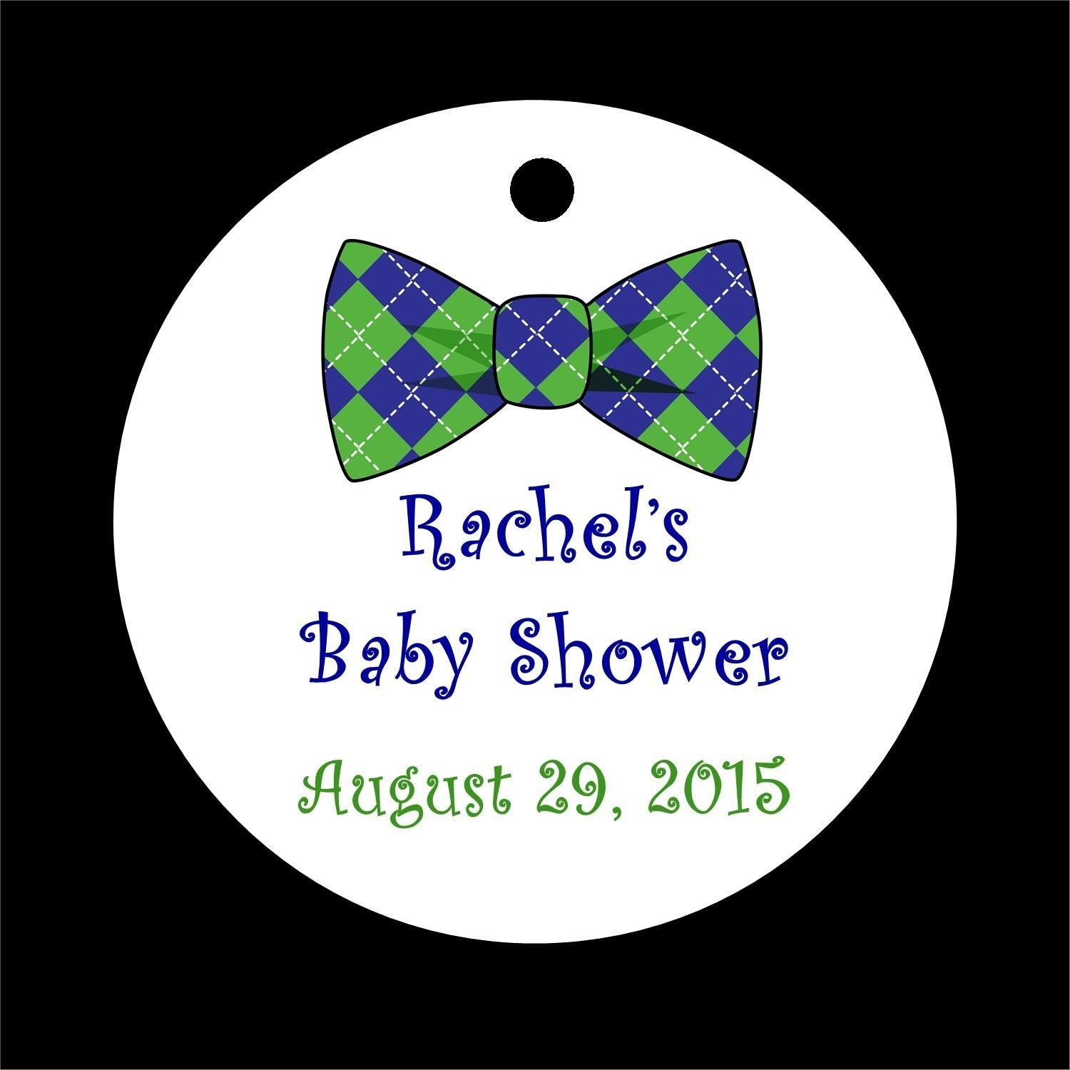 10 Dapper Bow Tie Baby Shower Favor Tags  Many